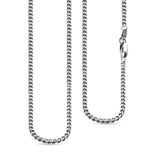 RHAPSODY 950 Platinum Diamodn Cut Curb Chain (Size 20),  Platinum Wt. 8.1 Gms