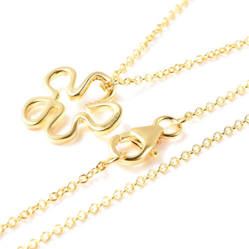 LucyQ Splash Pendant With Chain (Size 18) in Yellow Gold Overlay Sterling Silver