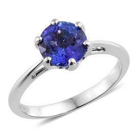 Rhapsody AAAA Tanzanite (1.35 Ct) 950 Platinum Ring  1.350  Ct.
