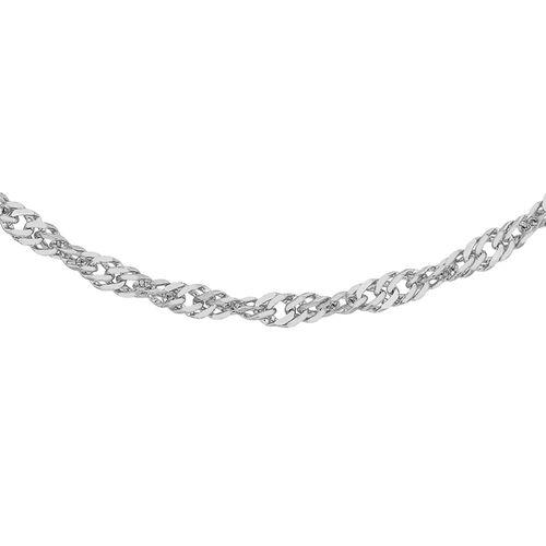 RHAPSODY 950 Platinum Twisted Curb Chain (Size 18)