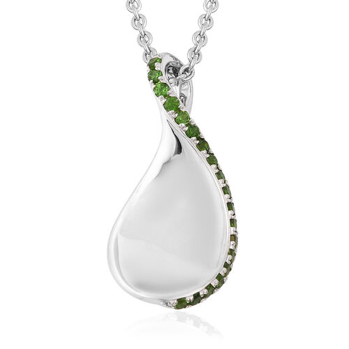 Isabella Liu Twilight Collection - Russian Diopside Pendant with Chain (Size 16 with 4 inch Extender
