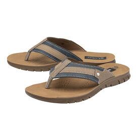 Lotus Ian Toe-Post Sandals - Blue & Tobacco