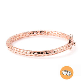 RACHEL GALLEY Rose Gold Overlay Sterling Silver Allegro Kids Bangle (Size 4.95)