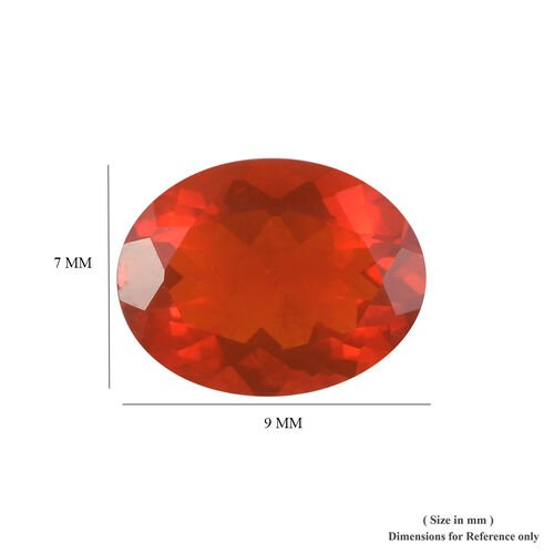 AAAA Fire Opal Oval 9x7 Faceted 1.01 Cts