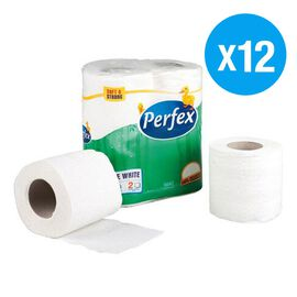 Perfex - Luxury 100% Cellulose Toilet Papers -Pack of 12 Rolls