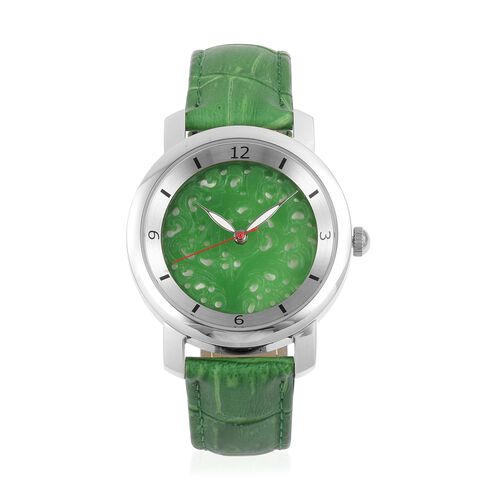 EON 1962 Swiss Movement Green Jade Dial 3ATM Water Resistent Watch with Genuine Leather Strap 25.000