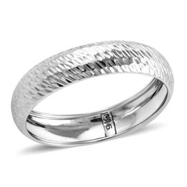 Royal Bali Band Ring in 9K White Gold