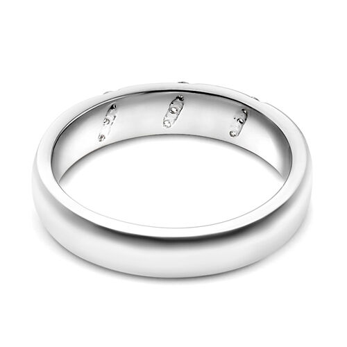 RHAPSODY 950 Platinum IGI Certified Diamond (Rnd) (VS/E-F) Band Ring 0.200 Ct., Platinum wt 5.98 Gms.