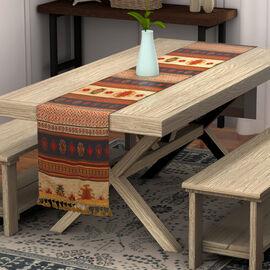 Turkish Handmade Table Runner (Size 180x50cm) - Brown & Multi