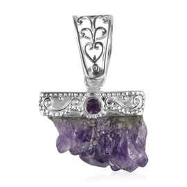 Amethyst Geode Pendant in Sterling Silver 56.71 Ct.