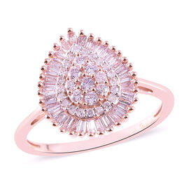 9K Rose Gold Natural Pink Diamond Ring 0.500 Ct.