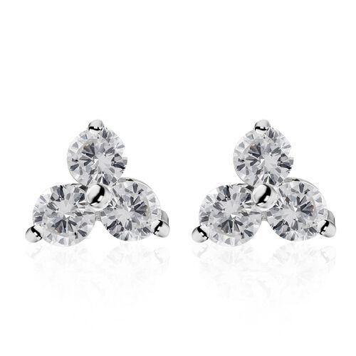 9K White Gold SGL Certified Diamond (Rnd) (I3/G-H) Stud Earrings (with Push Back)