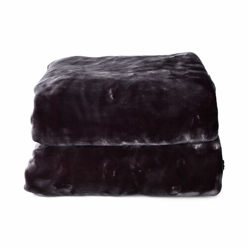 Deluxe Quality-Double Layer Super Soft Blanket  (Size 150x200 Cm)- Shungite Colour