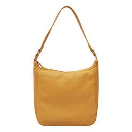 ASSOTS LONDON Bianca Genuine Pebble Grain Leather Slouchy Hobo Bag (Size 23x31x18cm) - Burnt Orange