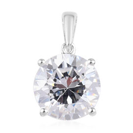 J Francis Made with SWAROVSKI ZIRCONIA Solitaire Pendant in Sterling Silver