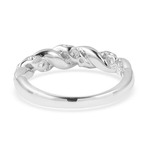 RACHEL GALLEY - Rhodium Overlay Sterling Silver Latticework and Ginkgo Leaf Ring