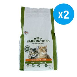 Harringtons: Dry Adult Cat Food Chicken & Rice - 4KG (Pack of 2)