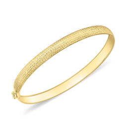 Designer Inspired 9K Yellow Gold Diamond Cut Stardust Flexi Bangle (Size 7), Gold wt 2.30 Gms