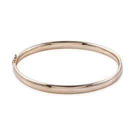 Royal Bali Collection 9K Yellow Gold Bangle (Size 7.5), Gold wt 7.33 Gms