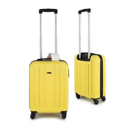 21 Inch Carry On Luggage Lightweight ABS Shell 4 Wheel Spinner Suitcase - Yellow