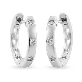 IGI Certified RHAPSODY 950 Platinum Diamond (E-F/VS) Full Hoop Earrings (with Clasp) 0.15 Ct, Platin