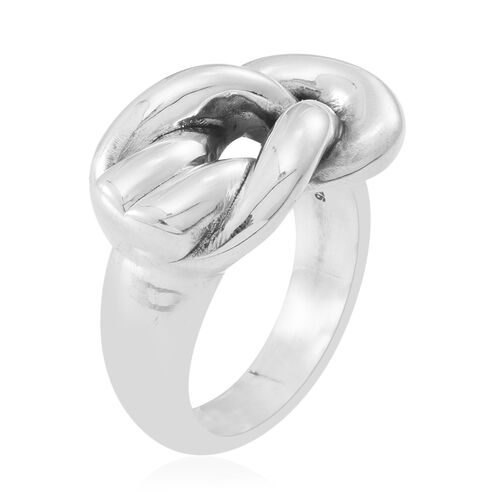 Statement Collection Silver Love Knot Ring, Silver wt 6.56 Gms.