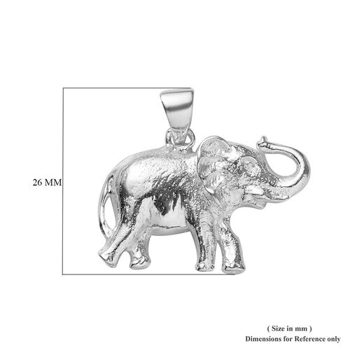 One Time Deal- Sterling Silver Elephant Pendant