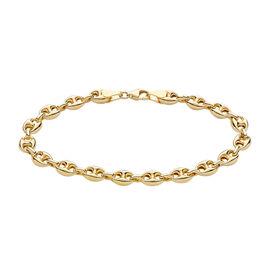 Close Out Deal-9K Y Gold Mariner Bracelet (Size 7.5), Total Gold Wt. 4.65 Gms