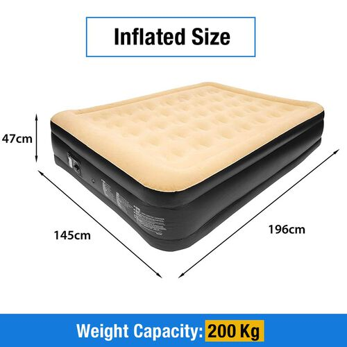 High Raise Double Airbed + Built - in Pump