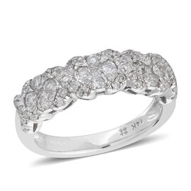 NY Close Out Deal 0.75 Ct Diamond Eternity Ring in 14K White Gold 4.6 Grams I1-I2 GH