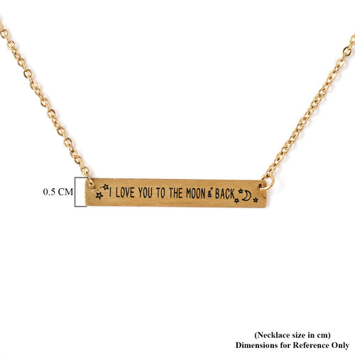 Personalise Engravable Stunning Bar Necklace, Size 17.5+2 Inch, Stainless Steel