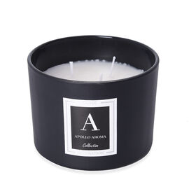 Home Decor - Apollo Aromatic Candle in Black Colour Glass Container with Gift Box (Size 10X8 Cm) - L