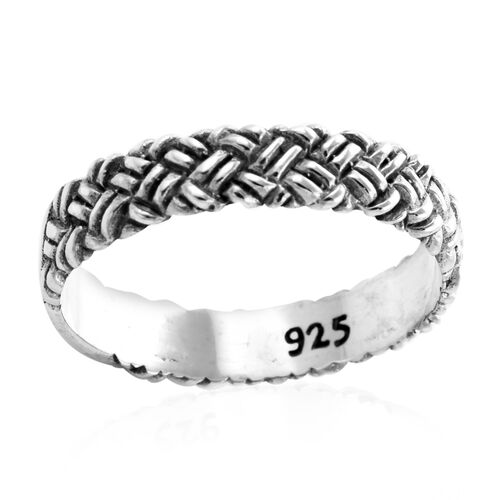 Royal Bali Collection Woven Band Ring in Sterling Silver 3 Grams