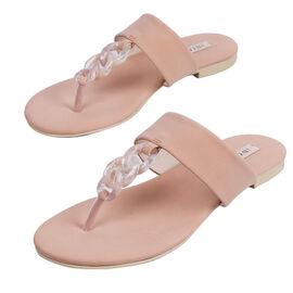 Inyati - LEANDRA Thong Style Sandal in Peach