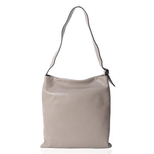 Premium Collection Super Soft  100% Genuine Leather Grey Colour Tote Bag with Adjustable Shoulder St