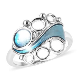 Isabella Lius Arctic Collection - Rhodium Overlay Sterling Silver Enamelled Ring