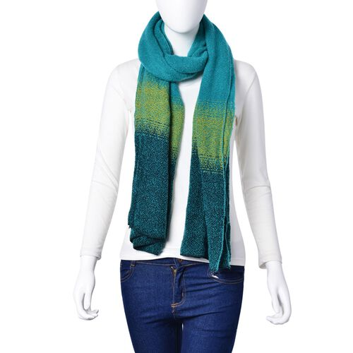 Green and Yellow Colour Scarf (Size 190x65 Cm)