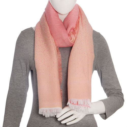 Pink and Peach Colour Scarf (Size 190x70 Cm)