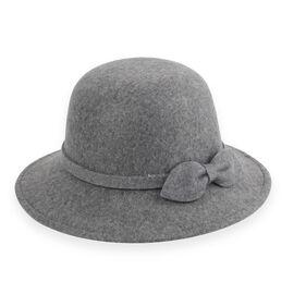 Grey Colour Bowknot Adorned Hat (Size 16 Cm)