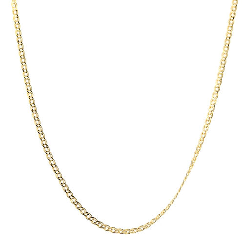 9K Yellow Gold Hollow Double Curb Chain (Size 22)