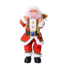 Christmas Decorations Singing Electric Santa Claus (Size 53x15 Cm)