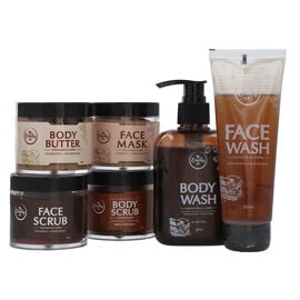 Set of 6 - The Beauty Co. Chocolate Coffee Combo for Skin Revitalizing - Inclds. Face Scrub, Face Ma