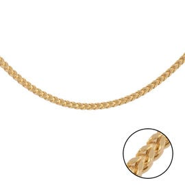 Italian Made - 9K Yellow Gold Square Franco Necklace (Size 24), Gold wt. 8.90 Gms