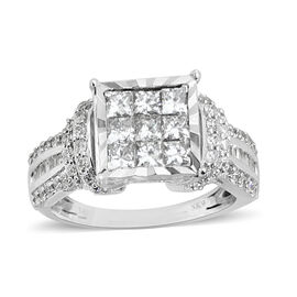 New York Close Out- 14K White Gold AGI Certified Diamond (SI2-I1/G-H) Ring 1.000 Ct.