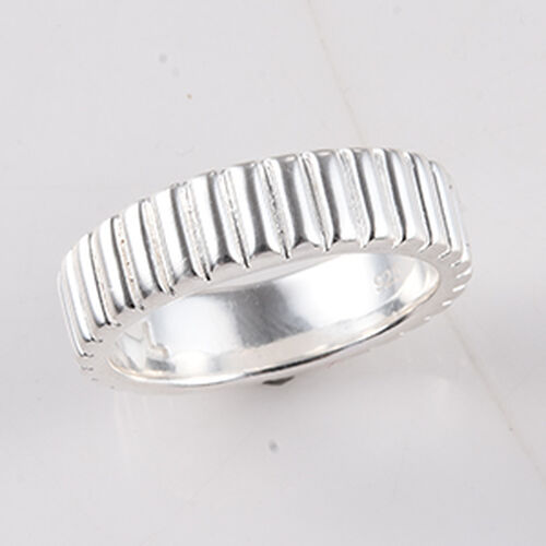 Stacker Band Ring in Sterling Silver 3.80 Grams