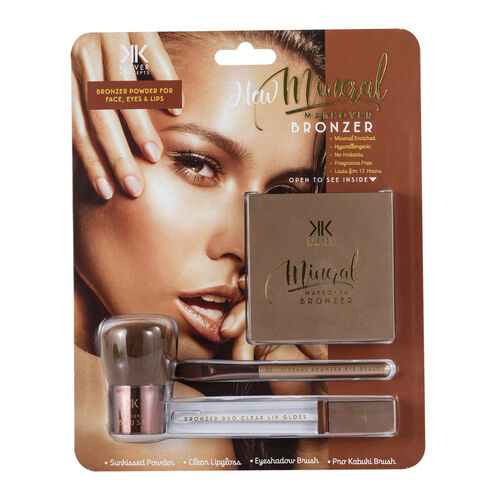 DMM Cosmetics Mineral Makeover Bronzer Kit (Blusher, Eyeshadow and Highlighter)
