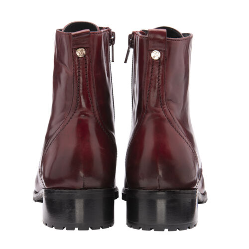 Ravel Marti Lace-Up Leather Ankle Boots (Size 7) - Burgundy