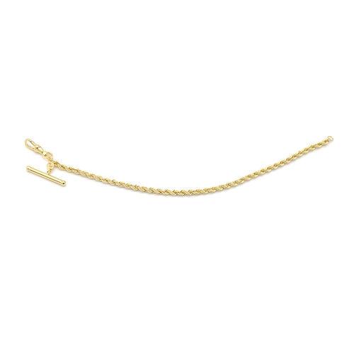 Italian Made - 9K Yellow Gold Rope Bracelet (Size 7.5)