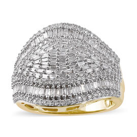 ILIANA 18K Yellow Gold IGI Certified Diamond (Bgt) (SI / G-H) Ring 1.00 Ct.