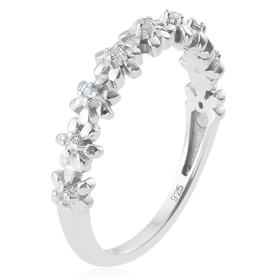 Half Eternity Diamond Stackable Ring  Ct